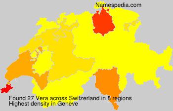 Surname Vera in Switzerland