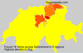Surname Verta in Switzerland