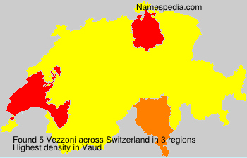 Surname Vezzoni in Switzerland