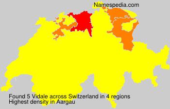 Familiennamen Vidale - Switzerland