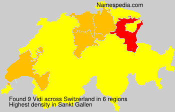 Surname Vidi in Switzerland