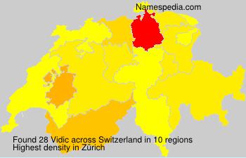 Surname Vidic in Switzerland