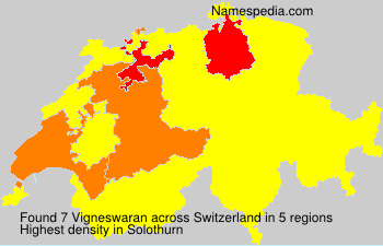 Surname Vigneswaran in Switzerland