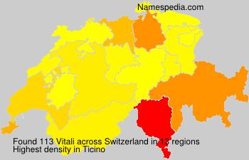 Familiennamen Vitali - Switzerland