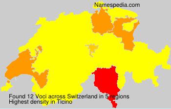 Familiennamen Voci - Switzerland