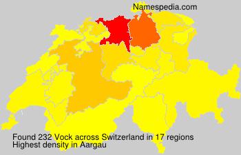 Surname Vock in Switzerland