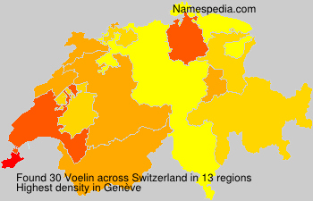 Surname Voelin in Switzerland