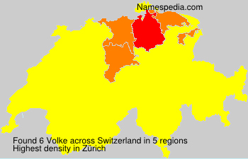 Surname Volke in Switzerland