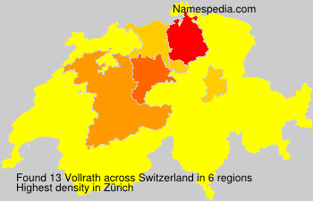 Surname Vollrath in Switzerland