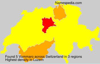 Surname Vommaro in Switzerland