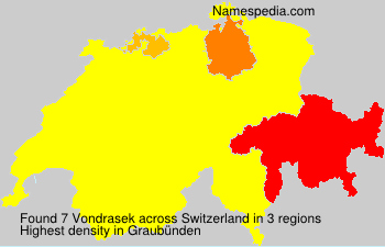 Surname Vondrasek in Switzerland