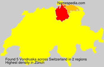 Surname Vondruska in Switzerland