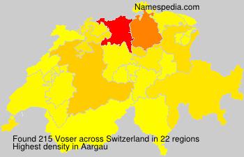 Familiennamen Voser - Switzerland