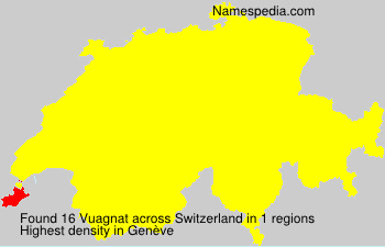 Surname Vuagnat in Switzerland