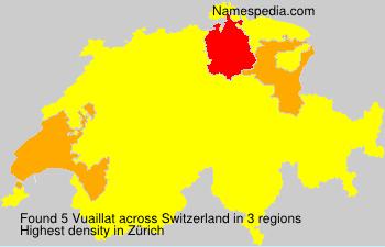 Surname Vuaillat in Switzerland
