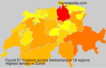 Surname Vuckovic in Switzerland