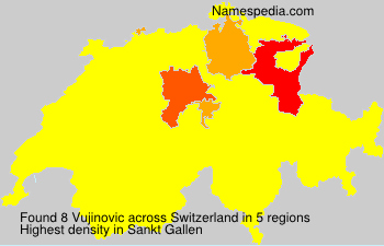 Surname Vujinovic in Switzerland