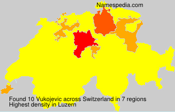 Surname Vukojevic in Switzerland