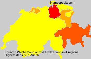 Familiennamen Wachsmann - Switzerland