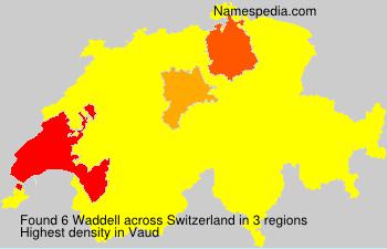Familiennamen Waddell - Switzerland