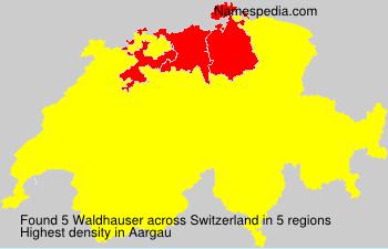 Familiennamen Waldhauser - Switzerland