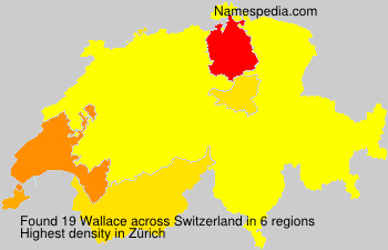 Surname Wallace in Switzerland