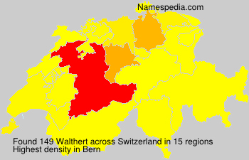 Surname Walthert in Switzerland