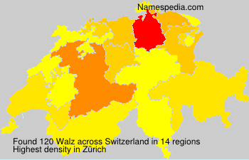 Surname Walz in Switzerland