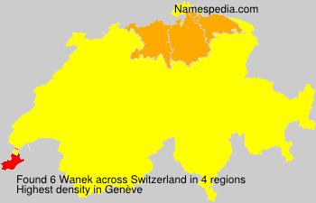 Surname Wanek in Switzerland