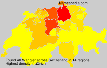 Surname Wangler in Switzerland