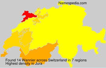 Surname Wannier in Switzerland
