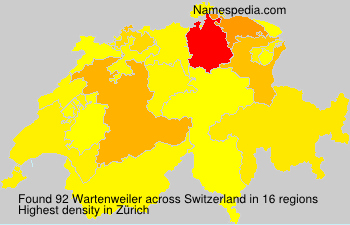 Surname Wartenweiler in Switzerland