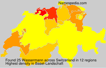 Surname Wassermann in Switzerland