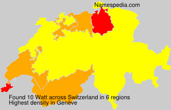 Surname Watt in Switzerland
