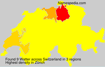 Surname Watter in Switzerland