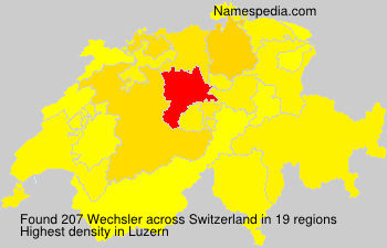 Surname Wechsler in Switzerland