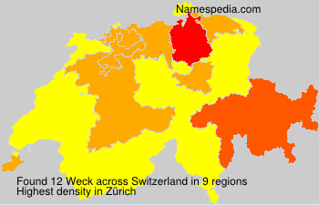 Surname Weck in Switzerland