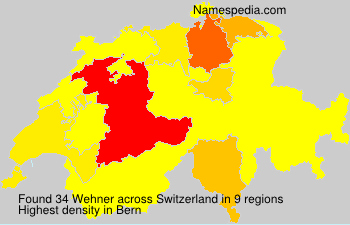 Surname Wehner in Switzerland
