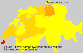 Surname Wei in Switzerland
