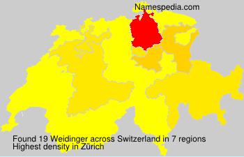 Familiennamen Weidinger - Switzerland