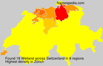 Surname Weiland in Switzerland