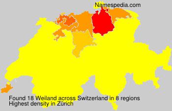 Surname Weiland in Switzerland