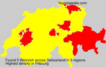 Surname Weinrich in Switzerland