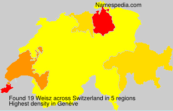 Surname Weisz in Switzerland