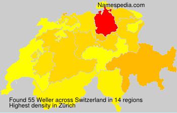 Surname Weller in Switzerland