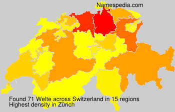 Surname Welte in Switzerland