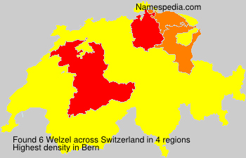Surname Welzel in Switzerland