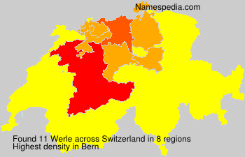 Surname Werle in Switzerland