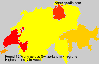 Surname Werly in Switzerland