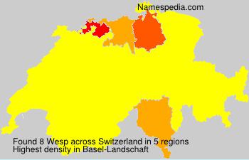 Familiennamen Wesp - Switzerland
